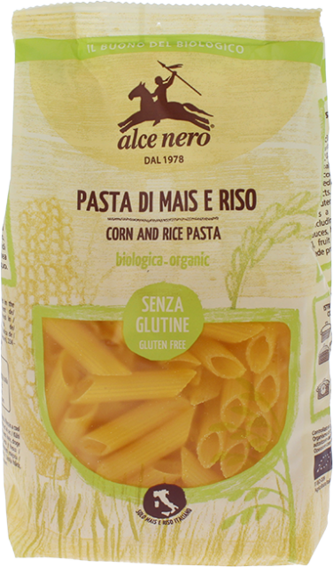 Organic corn and rice penne - 250g