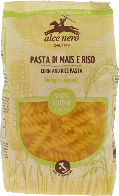 Organic corn and rice fusilli - 250g
