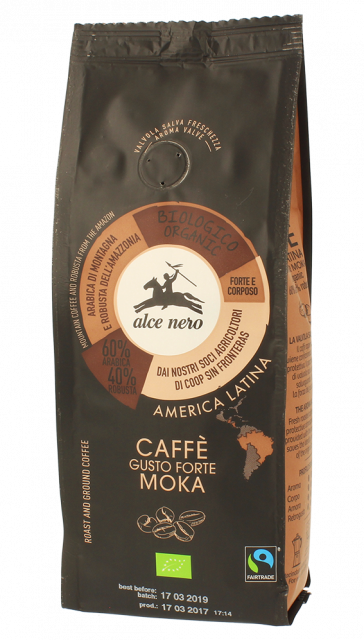 Organic strong moka coffee - 250g
