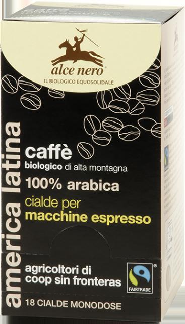 100% organic Arabica coffee pods - 18 pods