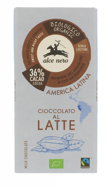 Organic milk chocolate with 36% cocoa - 100g