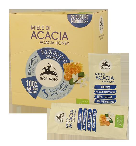 Organic Italian acacia honey - 32 sachets