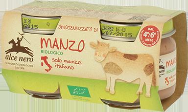 Organic beef baby food - 2 x 80g jar
