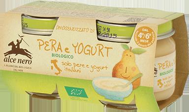 Organic pear and yoghurt baby food purée - 2 x 80g jar