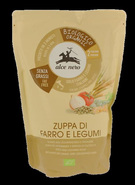 Organic spelt and legume soup - 500g