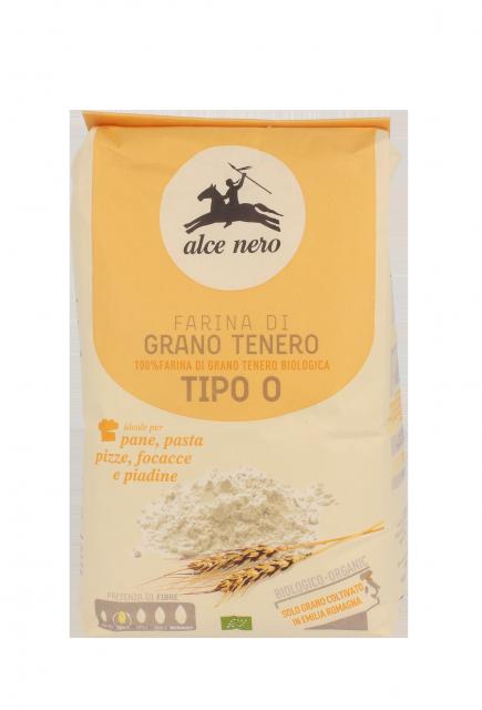 "Organic soft wheat flour type ""0"" (plain flour) - 1 kg"