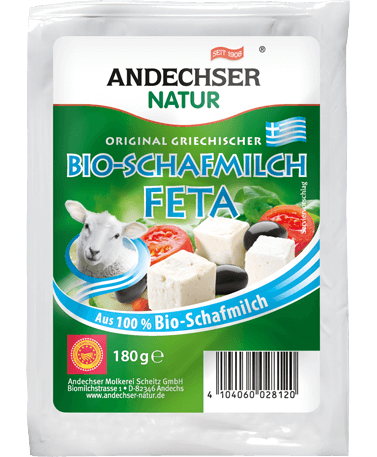 Organic sheep milk feta 45% FDM 180g