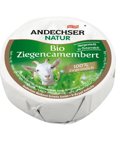 Organic goat camembert 50% 100g