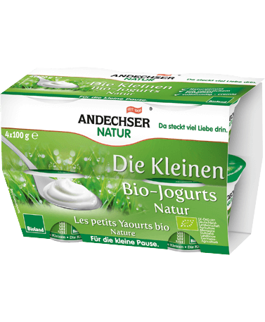 Mild organic yogurt natural 3.8% 4x100g