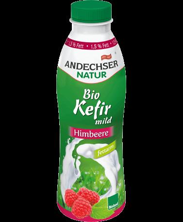 Mild organic kefir raspberry 1.5% 500g