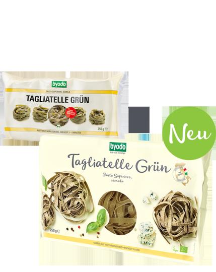 Tagliatelle, green, semolina