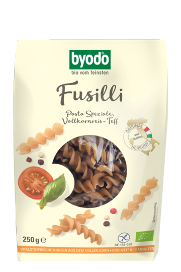 Fusilli, Brown Rice-Teff