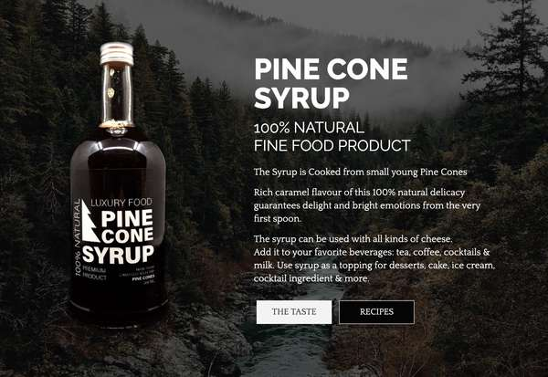 PINE CONE SYRUP - PREMIUM PRODUCT