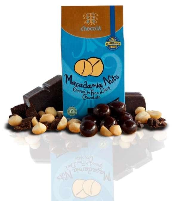 Macadamia Nuts Covered in Fine Dark Chocolate