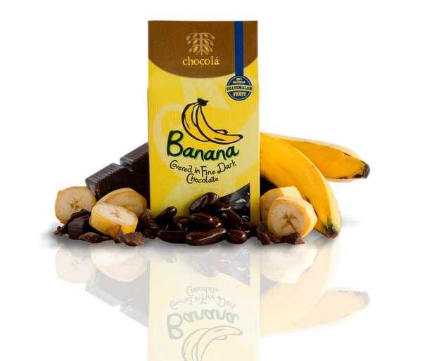 Banana Covered in Fine Dark Chocolate