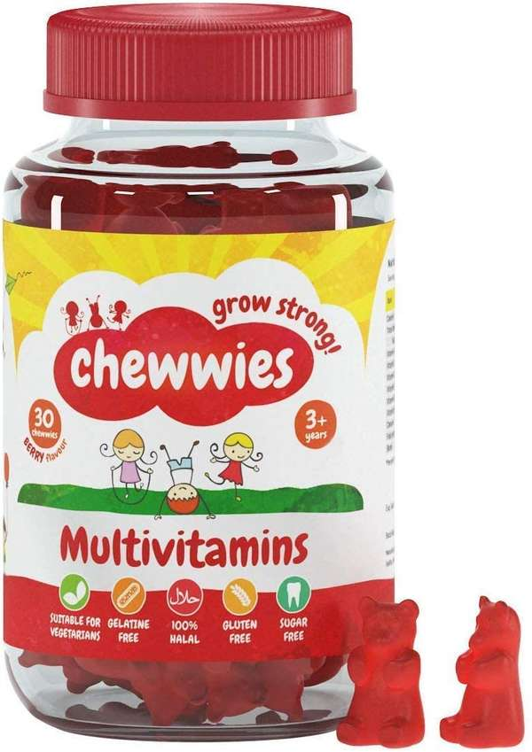 Chewwies Multivitamin - Chewable Vegan Gummies- Gelatin Free, Sugar Free, Halal & Gluten Free, Non-GMO - for Adults and Children Packed with Essential Vitamins and micronutrients (30 Day Supply)